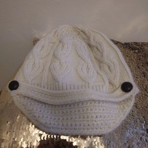 💥White knitted hat merona